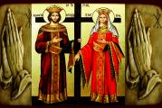 Azi e mare sărbătoare: Sfinţii Împăraţi Constantin şi Elena! Aproape 2 milioane de romani isi serbeaza onomastica! Vezi si traditiile si obiceiurile dedicate acestei zi!