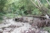 O viitură a făcut ravagii într-o comună din Vâlcea: zeci de gospodării au fost inundate, mai multe maşini, avariate.