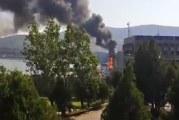 Mehedinți: Un incendiu de proporţii a avut loc  la Hidrocentrala Porţile de Fier.
