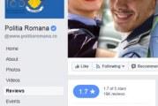 Zeci de oameni care au dat 1 stea pe Facebook Poliției Române s-au trezit cu conturile blocate