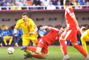 Romania a salvat o remiza cu Serbia, dupa ce a evoluat in 10 jucatori o repriza intreaga! Depindem de jocul rezultatelor pentru a castiga grupa!