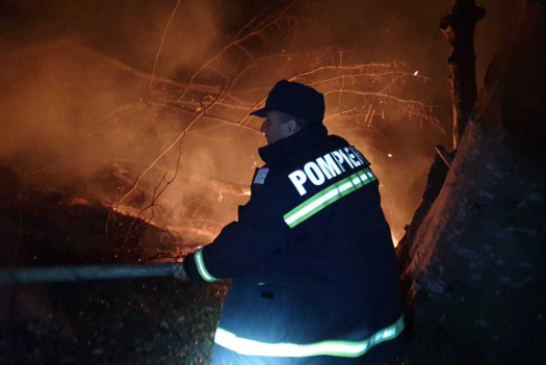 Incendiu devastator in Muntii Lotrului! Pompierii se lupta cu flacarile de 24 de ore, in zona Padina – Plesa, la o altitudine de 1600 de metri!