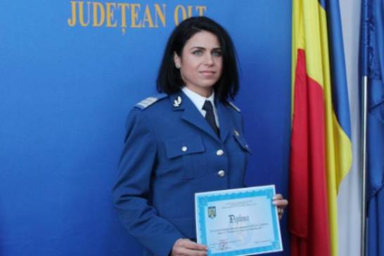 Medaliile si jandarmerita! Slatineanca Simona Floricel a castigat doua medalii la Campionatul national de Atletism si Cros al MAI!