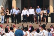 """Spectacol superb la Slatina cu ocazia concursului """"Calusul uneste Romania""""! Copiii au dansat si in fata autoritatilor locale, la Primarie!"""