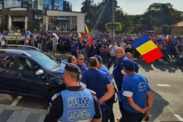 Proteste masive la Ramnicu Valcea!