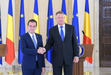 Klaus Iohannis l-a desemnat premier pe Ludovic Orban