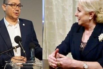 """Viorica Dăncilă și Victor Ponta se atacă. Ea e""""sinistra"""", el, """"parazitul"""""""